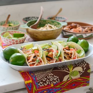 Korean Salmon Tacos and a chance to win a $100 Visa gift card!