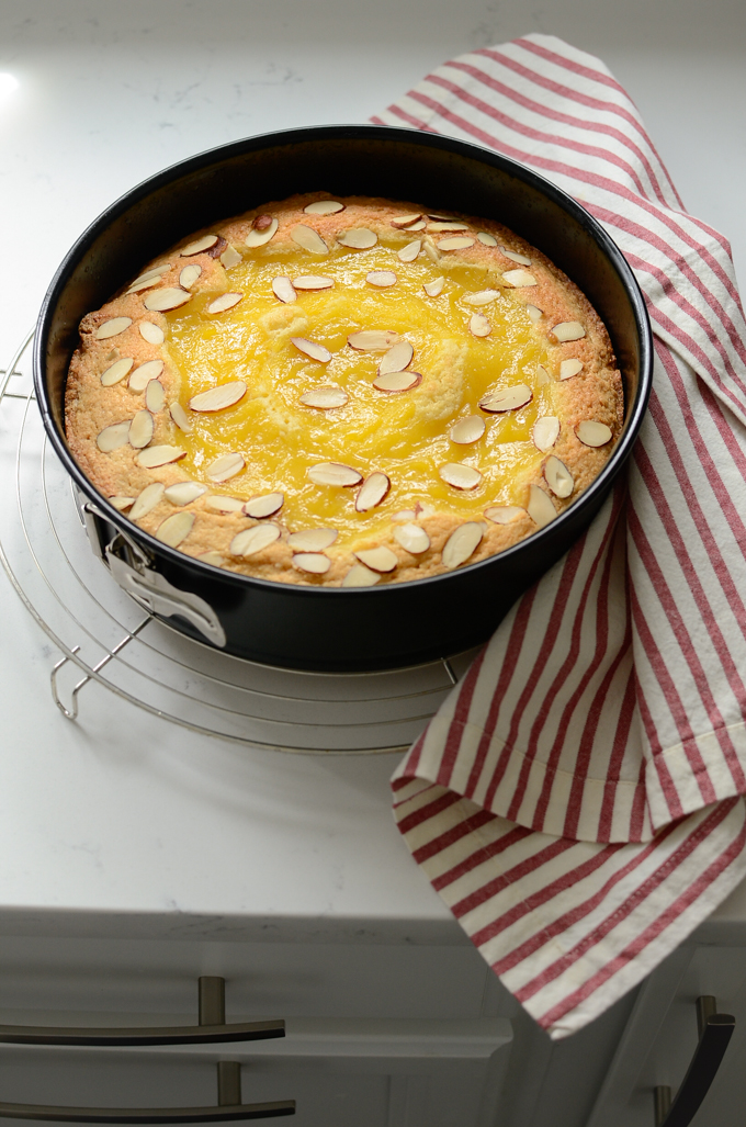 Lemon Custard Almond Cake