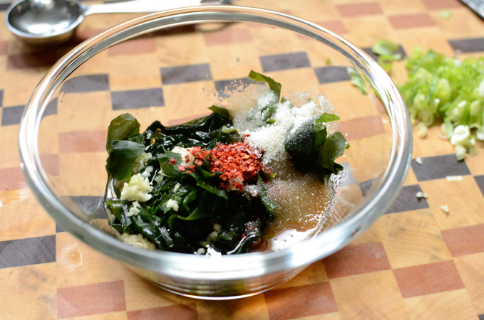 Korean Cold Seaweed Cucumber Soup