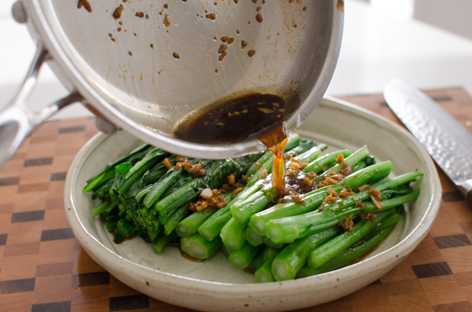 Choy Sum with Garlic Sauce