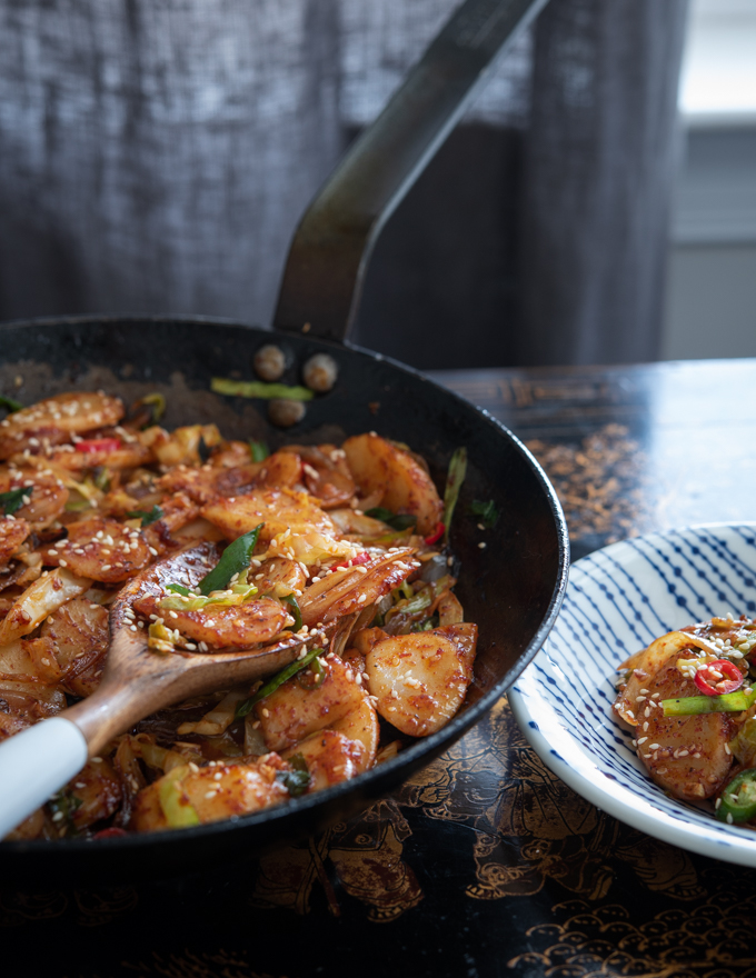 Spicy Rice Cake Stir-Fry