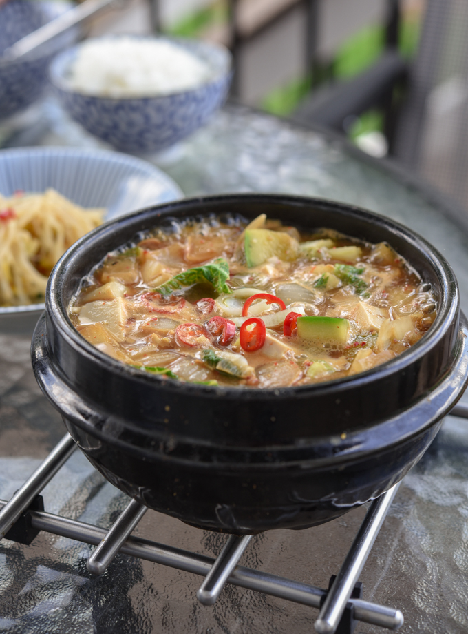 Korean doenjang jjigae (soybean paste stew) stock