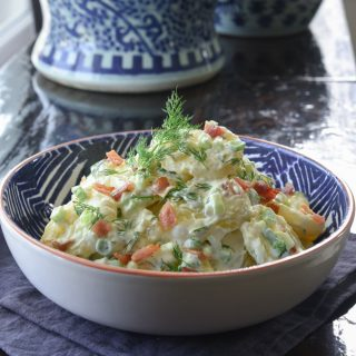 Creamy Potato Salad with fresh herb