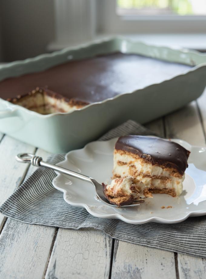 No-Bake Eclair Cake from Scratch