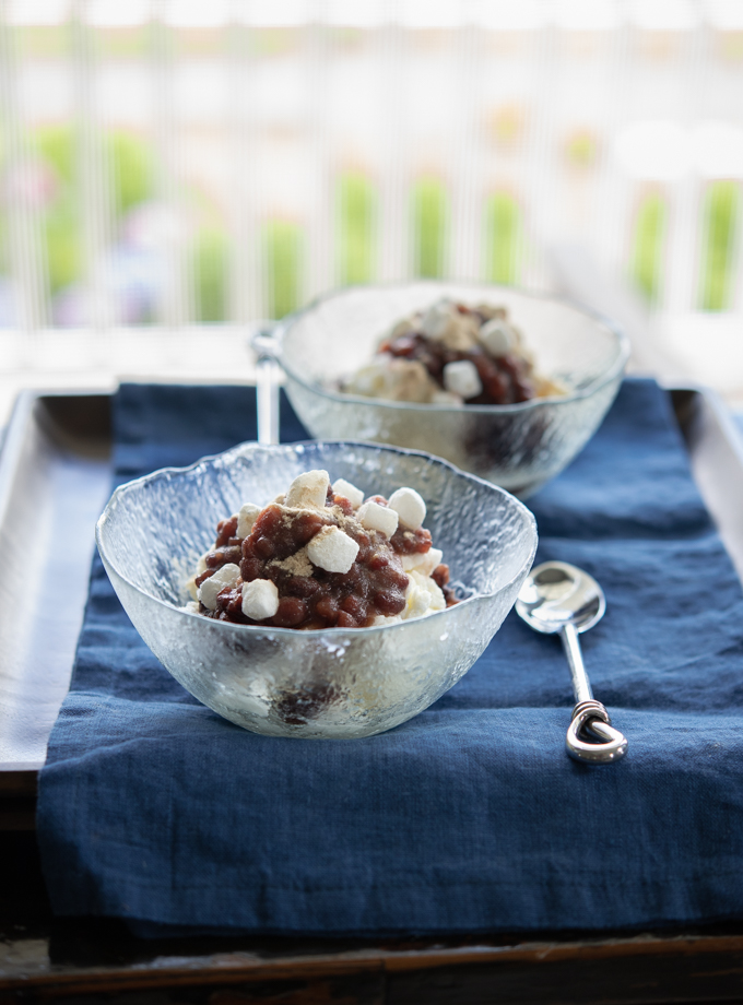 Patbingsu (Milky Ice with Red Beans)