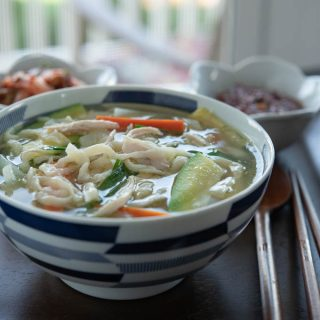 Korean Chicken Noodle Soup (Dak Kalguksu)
