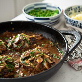 Salisbury Steak with Mushroom Onion Gravy