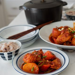 The Most Delicious Spicy Korean Chicken Stew