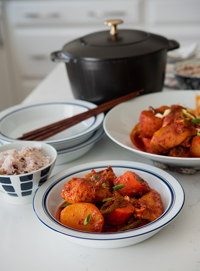 Spicy Korean Chicken Stew (Dakbokkeumtang)