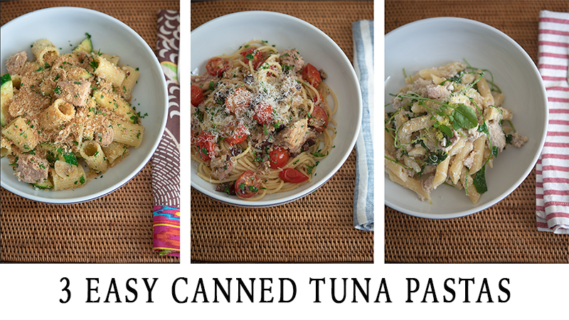 3 Easy Canned Tuna Pastas