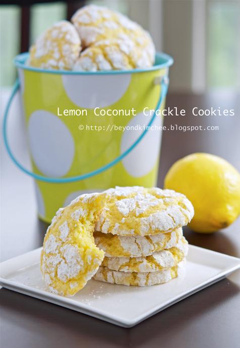 Lemon Coconut Crackle Cookies