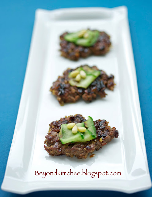 Korean Beef and Nut Patties